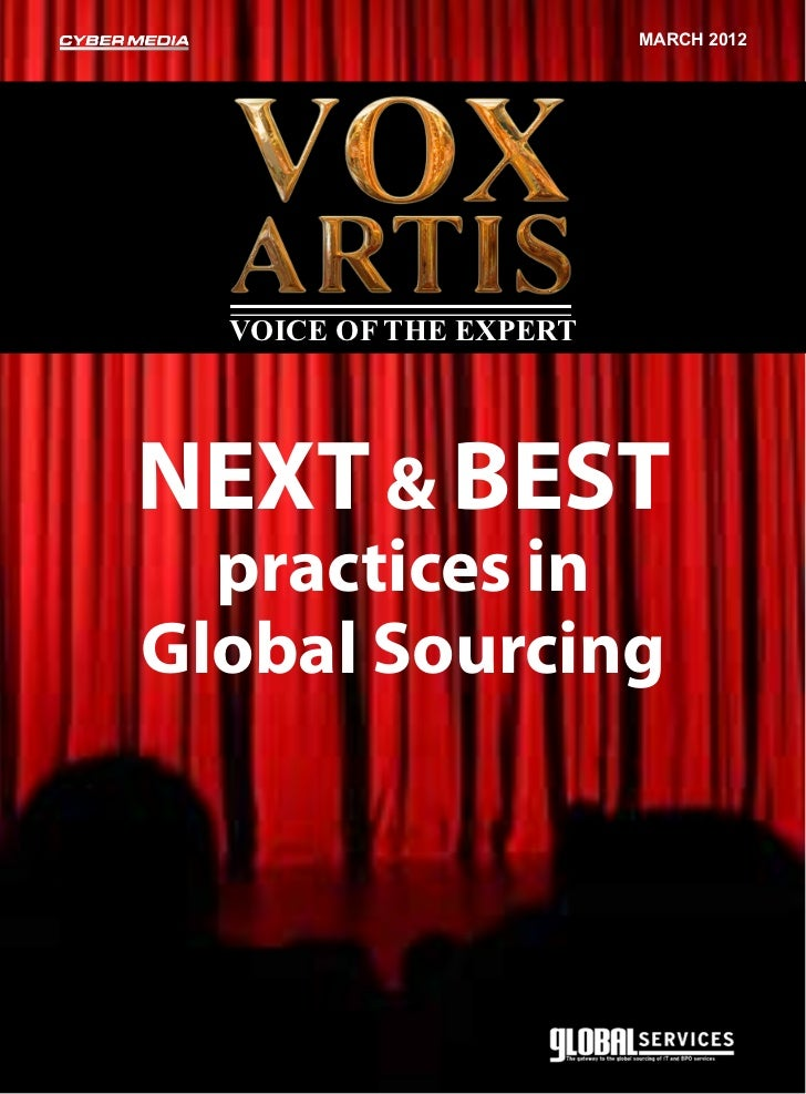 march 2012  Voice of the expertNext & Best  practices inGlobal Sourcing