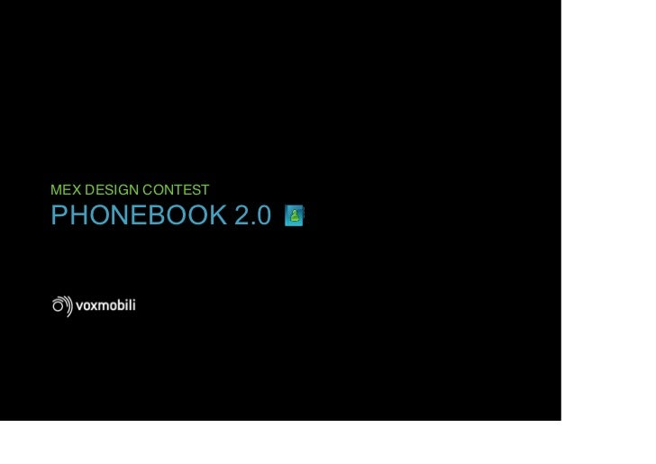 MEX DESIGN CONTESTPHONEBOOK 2.0