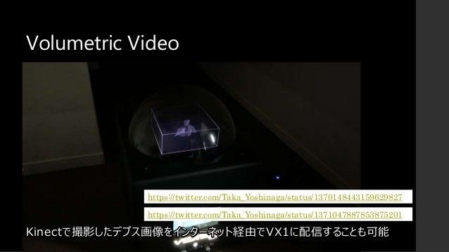 Volumetric Video Kinectで撮影したデプス画像をインターネット経由でVX1に配信することも可能 https://twitter.com/Taka_Yoshinaga/status/1370148443159629827 ht...