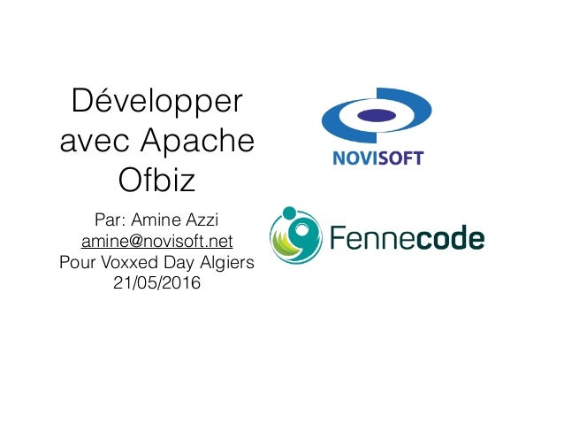 Develop on Apache Ofbiz