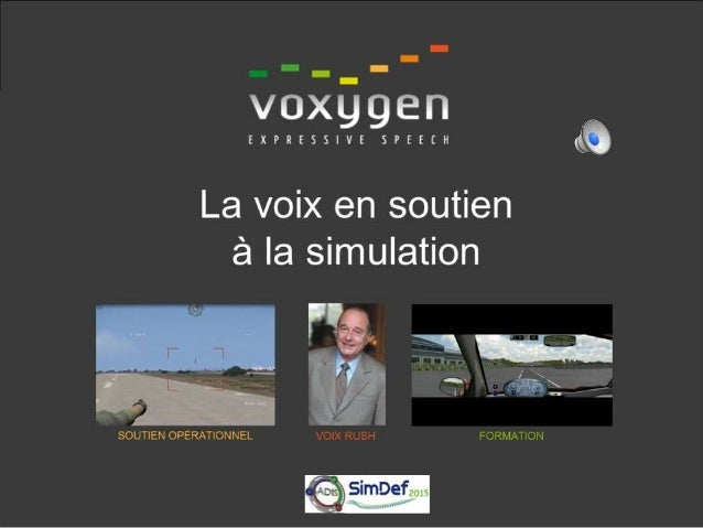 Voxygen, carte d'identité  JEI créée en 2011, spin-off de l'équipe historique française dédiée à la Synthèse Vocale, basé...