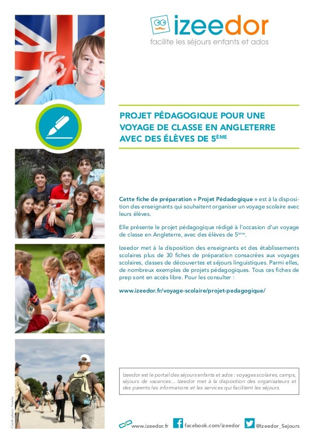 Dossier Pédagogique Pour Un Voyage Scolaire En Angleterre