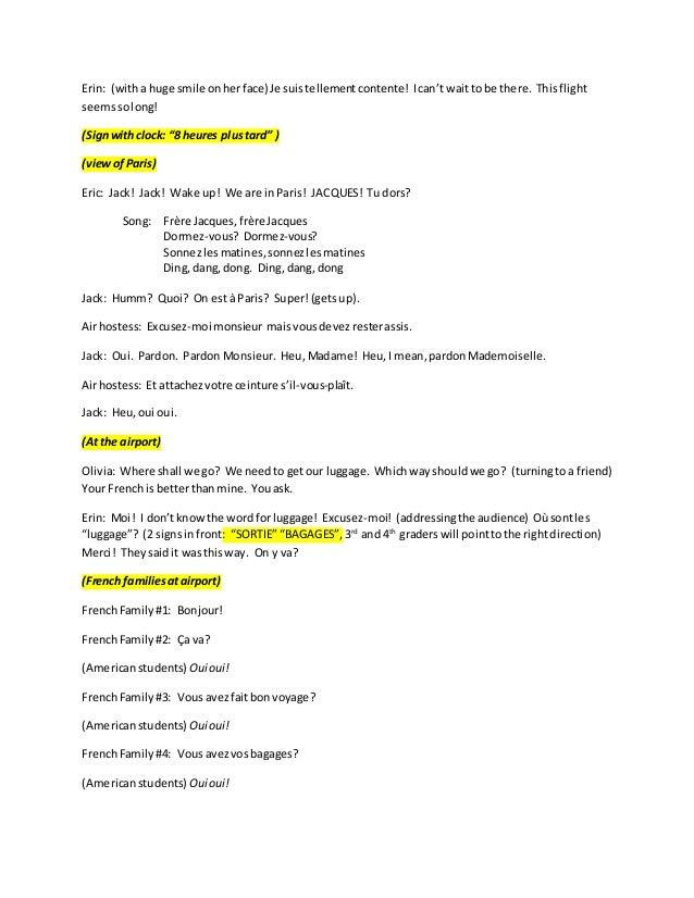 Voyage à paris (script) Slide 2