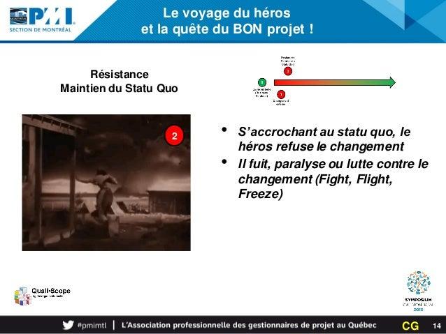 Le voyage du héros et la quête du BON projet ! Résistance Maintien du Statu Quo 2 • S'accrochant au statu quo, le héros re...