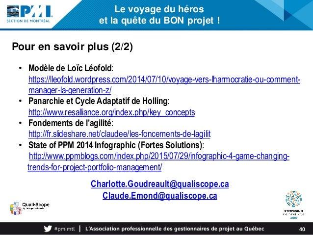 Le voyage du héros et la quête du BON projet ! 40 • Modèle de Loïc Léofold: https://lleofold.wordpress.com/2014/07/10/voya...