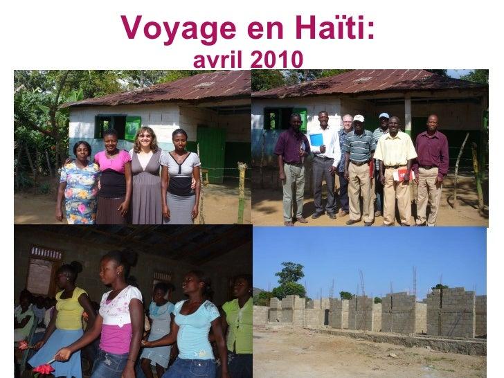 Voyage en Haïti: avril 2010