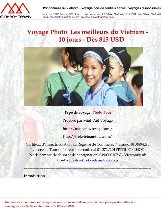 Voyage Photo Les meilleurs du Vietnam -10 jours - Dès 813 USDType de voyage: Photo TourProposé par Minh AnhVoyagehttp://mi...