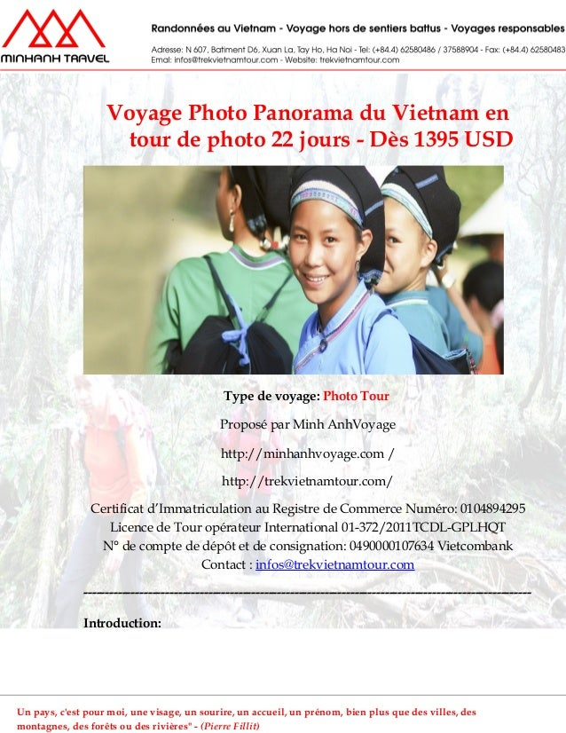 Voyage Photo Panorama du Vietnam entour de photo 22 jours - Dès 1395 USDType de voyage: Photo TourProposé par Minh AnhVoya...