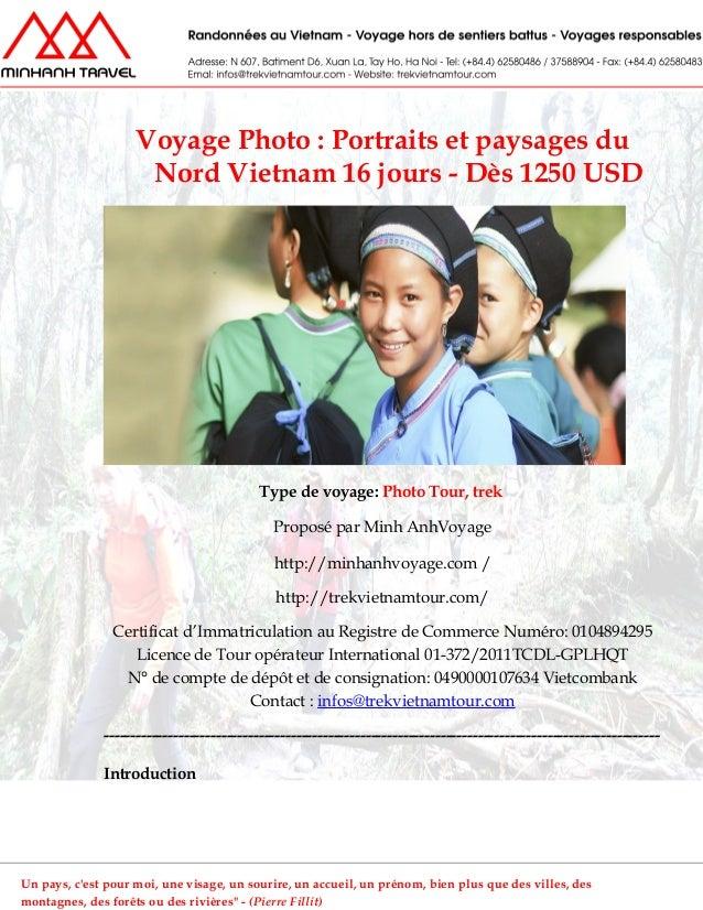 Voyage Photo : Portraits et paysages duNord Vietnam 16 jours - Dès 1250 USDType de voyage: Photo Tour, trekProposé par Min...
