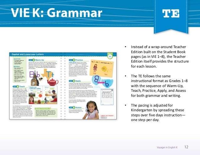 Voyages in English 2018 Kindergarten Online Sampler