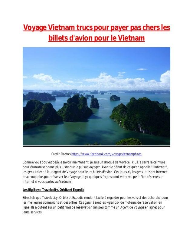 Voyage Vietnam trucs pour payer pas chers les billets d'avion pour le Vietnam Credit Photos https://www.facebook.com/voyag...