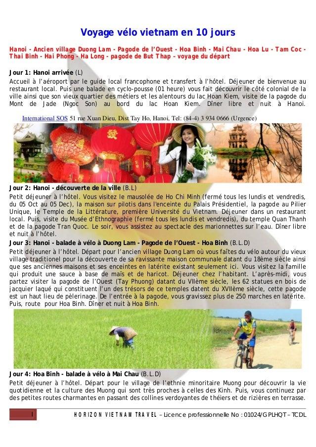 Voyage vélo vietnam en 10 joursHanoi - Ancien village Duong Lam - Pagode de l'Ouest - Hoa Binh - Mai Chau - Hoa Lu - Tam C...