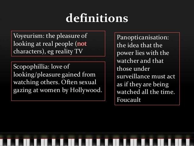 Voyeuristic define