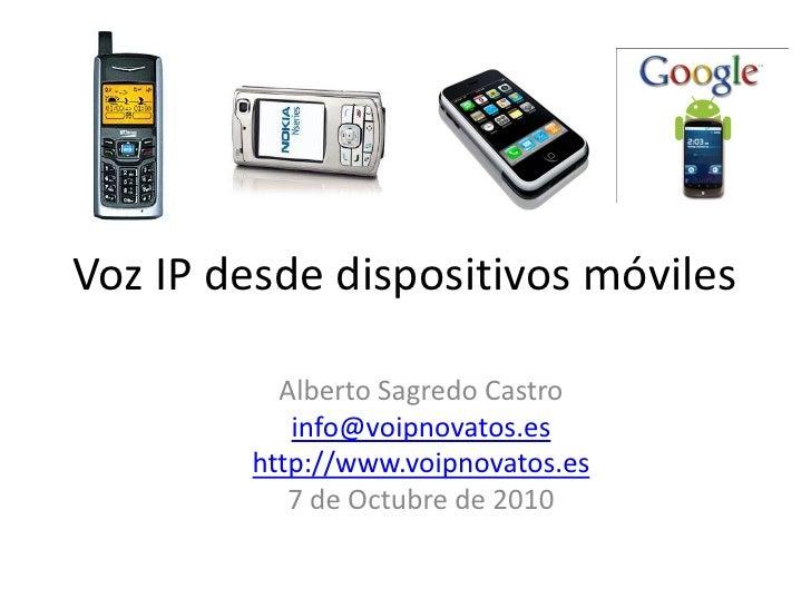 Voz ip desde dispositivos móviles