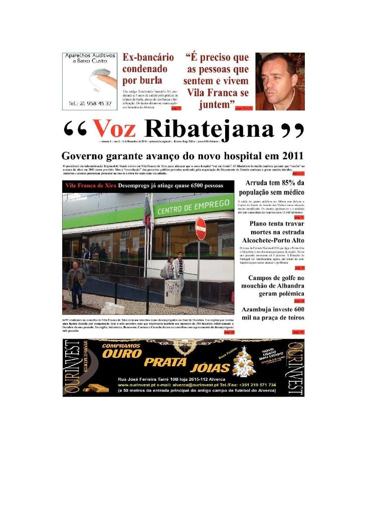 Voz Ribatejana Edição 1 Dezembro 2010