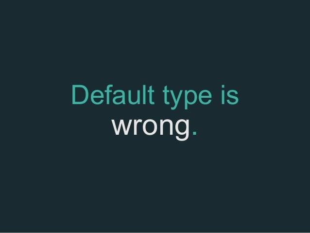 Serif or Sans Serif ?