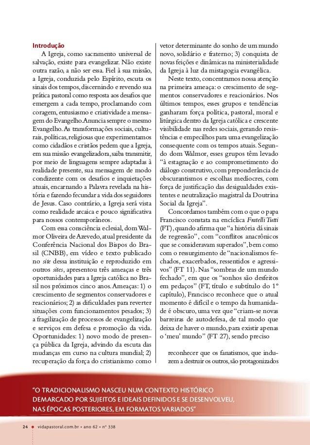 vidapastoral.com.br • ano 62 • no 338 24 Introdução A Igreja, como sacramento universal de salvação, existe para evangeliz...