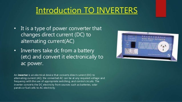 ppt on inveters