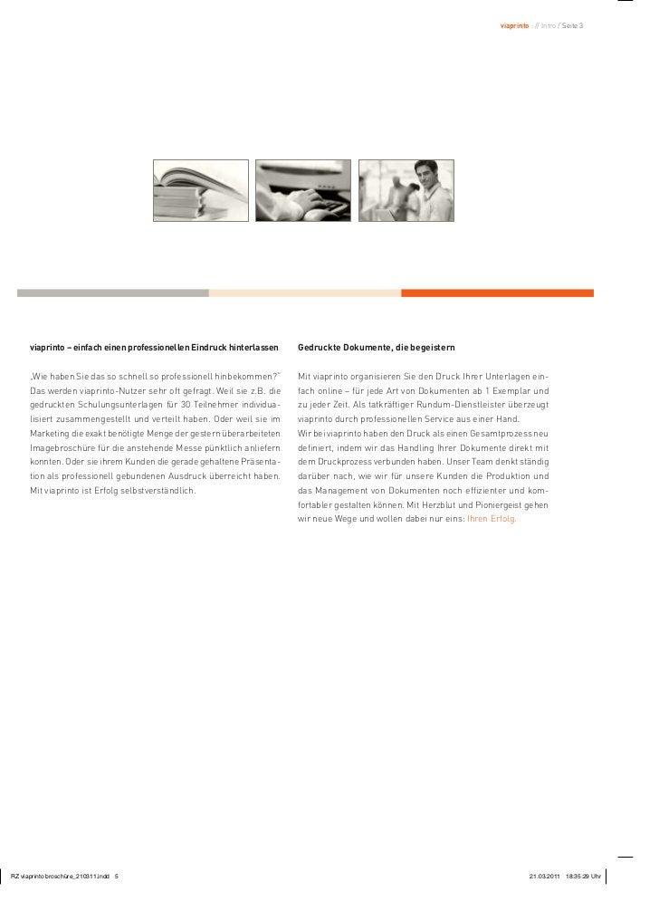 viaprinto : // Intro / Seite 3viaprinto – einfach einen professionellen Eindruck hinterlassen   Gedruckte Dokumente, die b...