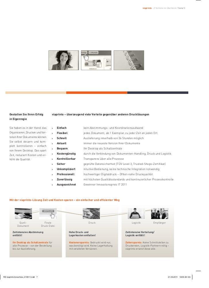 viaprinto : // Vorteile im Überblick / Seite 5Gestalten Sie Ihren Erfolg         viaprinto – überzeugend viele Vorteile ge...