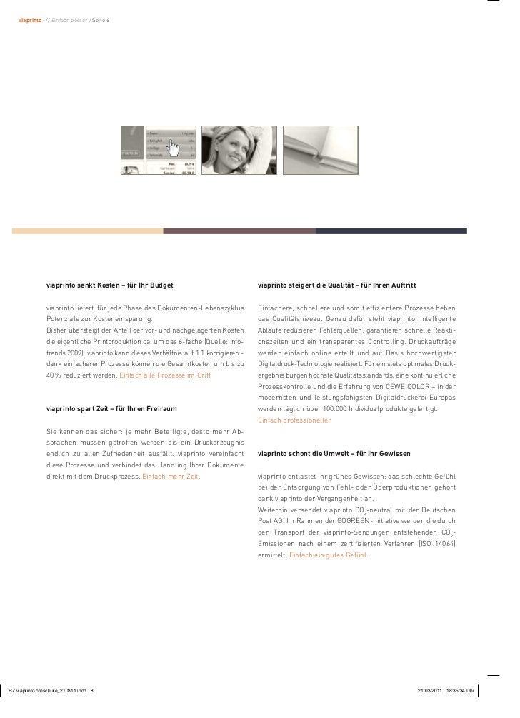 viaprinto : // Einfach besser / Seite 6           viaprinto senkt Kosten – für Ihr Budget                                v...