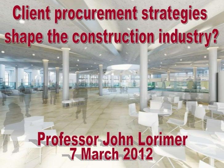 Agenda                 Drivers                Procurement                              Tools &Collaboration               ...