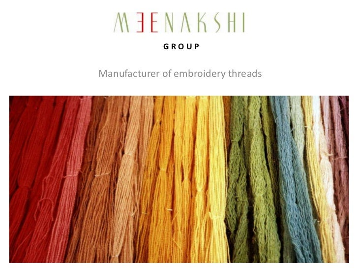 GROUPManufacturer of embroidery threads