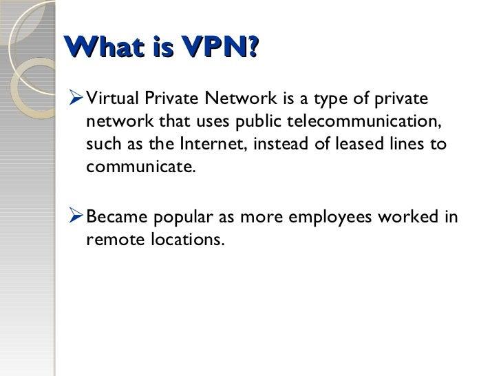 Vpn network ppt