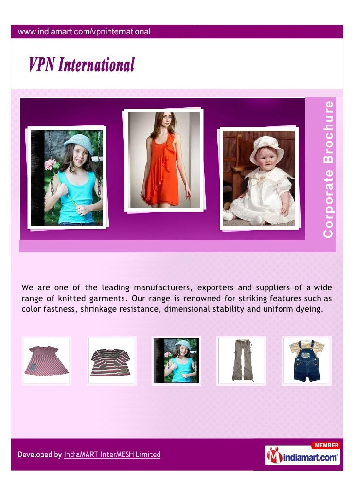 We are one of the leading manufacturers, exporters and suppliers of a widerange of knitted garments. Our range is renowned...