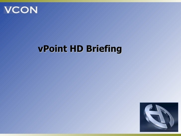 vPoint HD Briefing