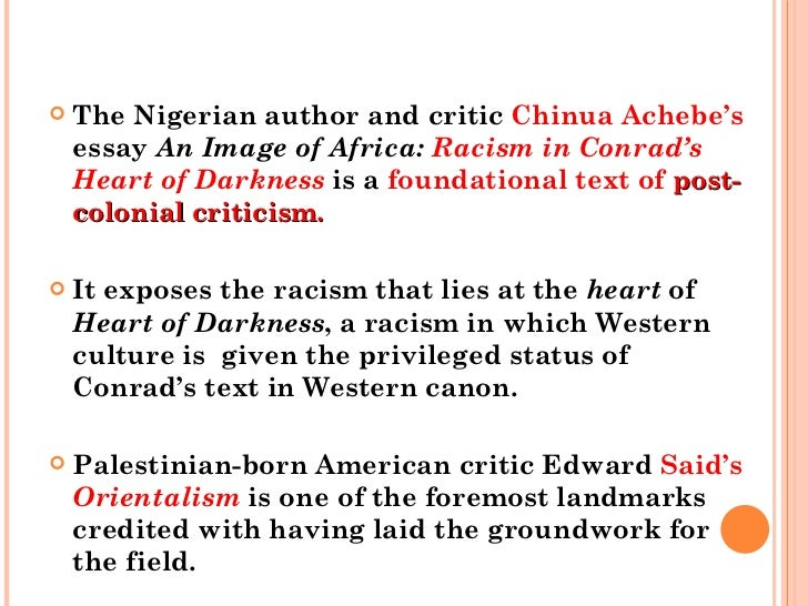 "Achebe's ""An Image of Africa"" Vs. Hawkin's ""Heart of Darkness and Racism"""