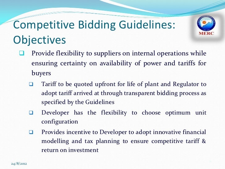 Competitive bidding in the power sector is it working 11 competitive bidding sciox Images