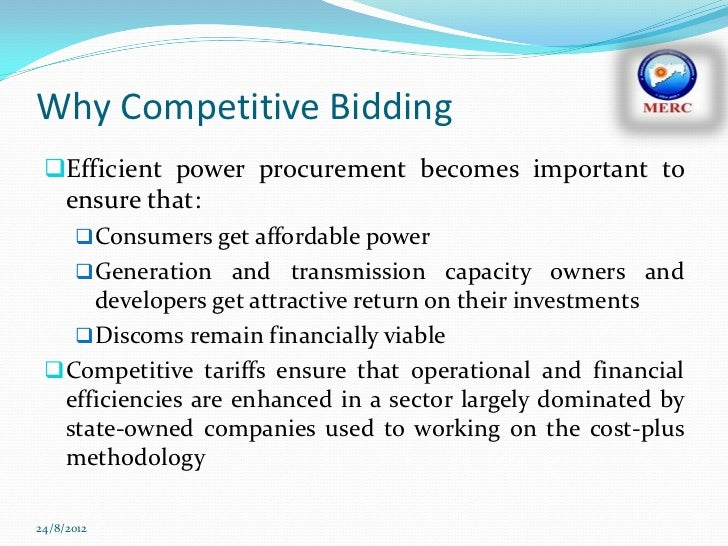 Competitive bidding in the power sector is it working 7 why competitive bidding efficient power sciox Images