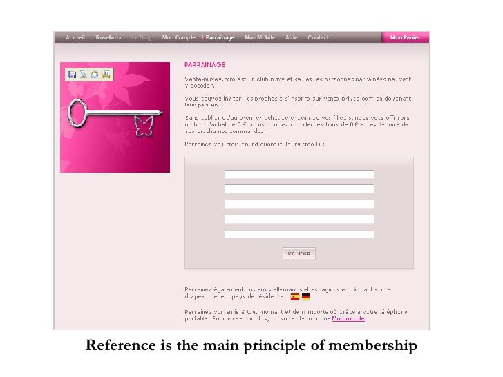 Reference is the main principle of membership