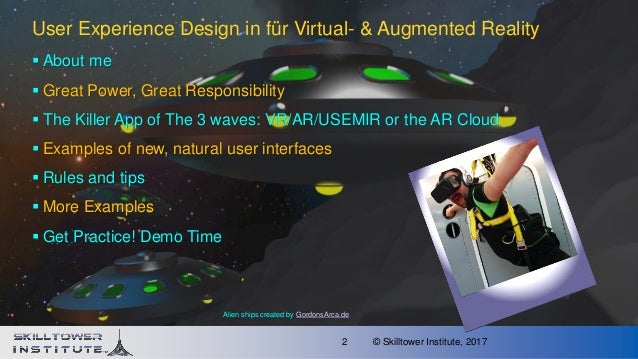 VR and AR User Experience Design Slide 2