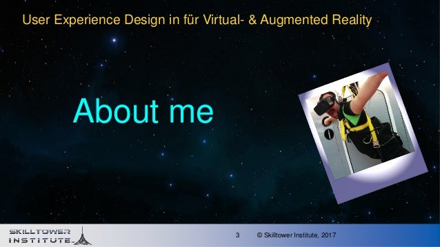 VR and AR User Experience Design Slide 3