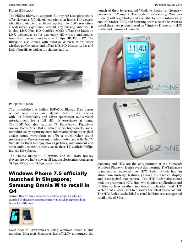 VR-Zone Tech News for the Geeks Sep 2011 Issue 2 slideshare - 웹