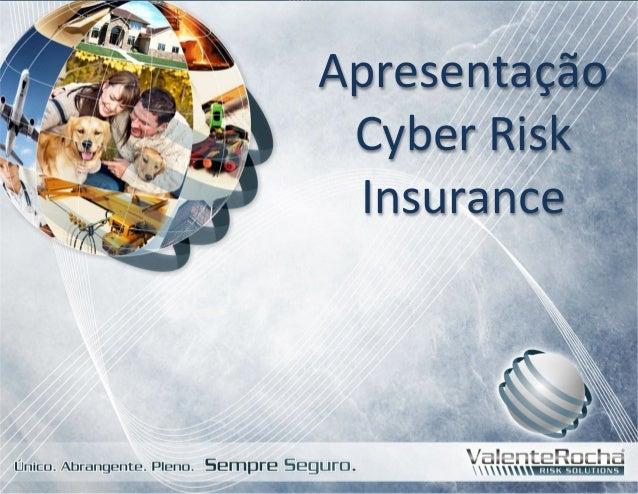 Apresentação Cyber  Risk Insurance