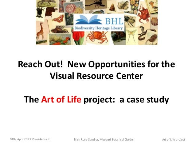 Trish Rose-Sandler, Missouri Botanical GardenVRA April 2013 Providence RI Art of Life projectReach Out! New Opportunities ...