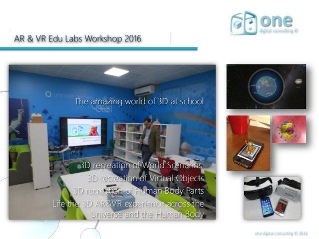 bd0a6491e430 25. one digital consulting © 2016 AR   VR Edu Labs Workshop 2016 The  amazing world ...