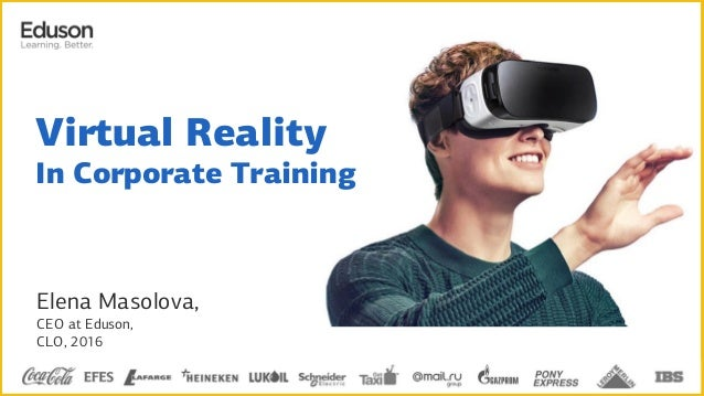 Elena Masolova, CEO at Eduson, CLO, 2016 Virtual Reality In Corporate Training