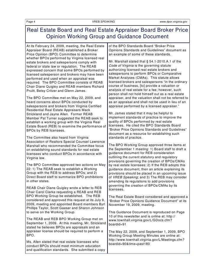 Vreb speaking fall 2009 final for Broker opinion of value template