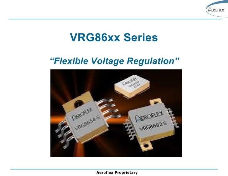 """VRG86xx Series """" Flexible Voltage Regulation"""""""
