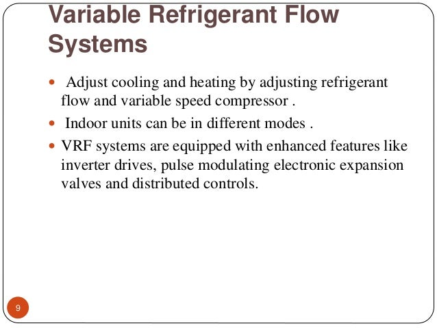 Variable refrigerant flowvrf ppt variable refrigerant flow systems sciox Gallery