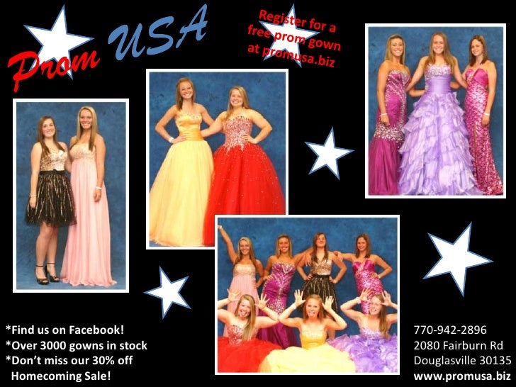 *Find us on Facebook!       770-942-2896*Over 3000 gowns in stock   2080 Fairburn Rd*Don't miss our 30% off     Douglasvil...