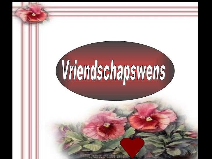 Vriendschapswens