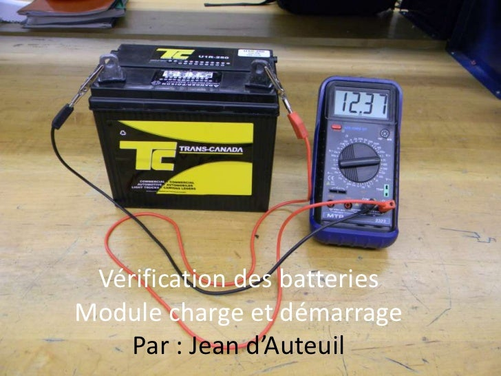 v rification batterie