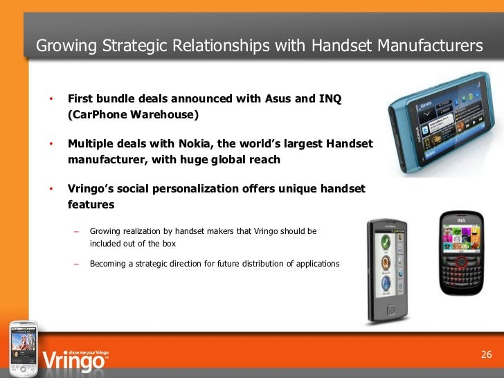 Growing Strategic Relationships with Handset Manufacturers •   First bundle deals announced with Asus and INQ     (CarPhon...