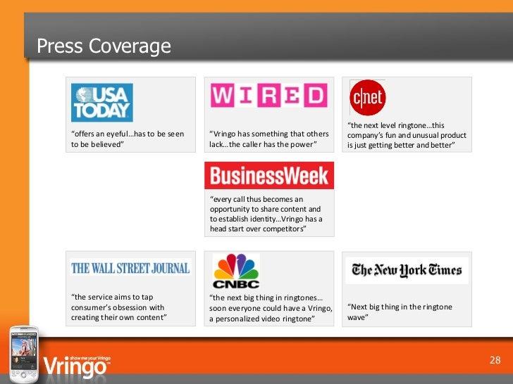 "Press Coverage                                                                           ""the next level ringtone…this   ""..."