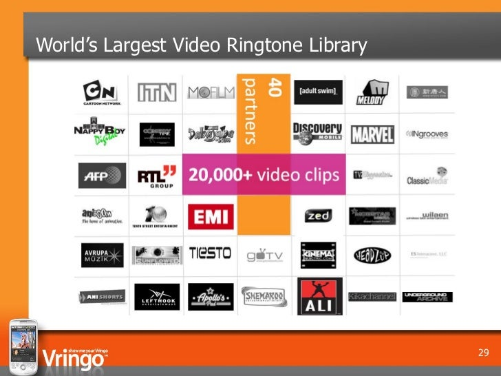 World's Largest Video Ringtone Library                                         29